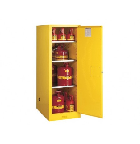 Sure-Grip® EX Deep Slimline Flammable Safety Cabinet, Cap. 54 gallons, 3 shlves, 1 m/c door