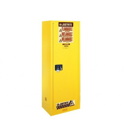 Sure-Grip® EX Deep Slimline Flammable Safety Cabinet, Cap. 54 gallons, 3 shlves, 1 s/c door
