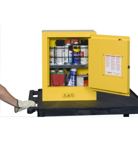 Sure-Grip® EX Mini Flammable Safety Cabinet, transportable, 1 shelf, 1 m/c door