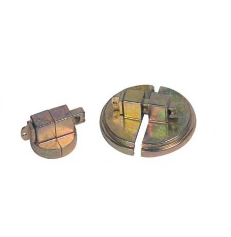 "Drum Lock Set for Steel Drums, 1 set fits 2"" bung, 1 set fits 3/4"" bung, 2 lock bars. No padlocks"