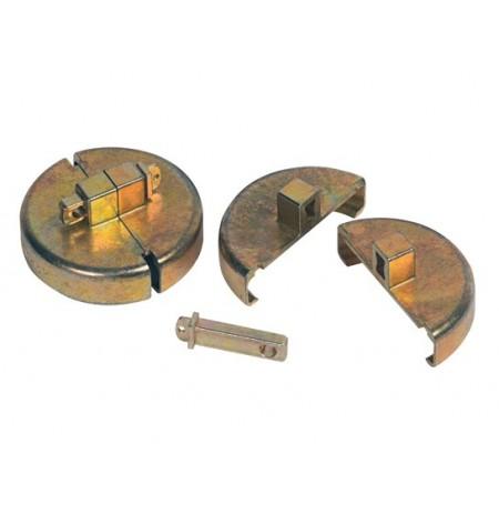 "Drum Lock Set for Plastic Drums, 2 units fit 2"" bung, 2 lock bars. No padlocks."