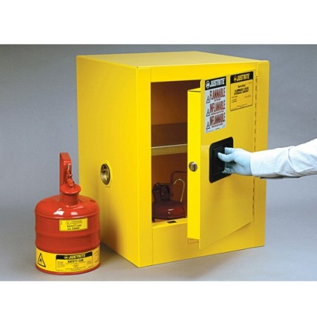 Sure-Grip® EX Countertop Flammable Safety Cabinet, Cap. 4 gallons, 1 shelf, 1 m/c door