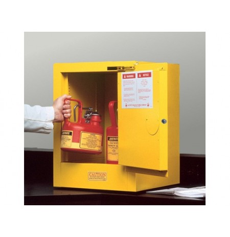 Sure-Grip® EX Countertop Flammable Safety Cabinet, Cap. 4 gallons, 1 shelf, 1 s/c door