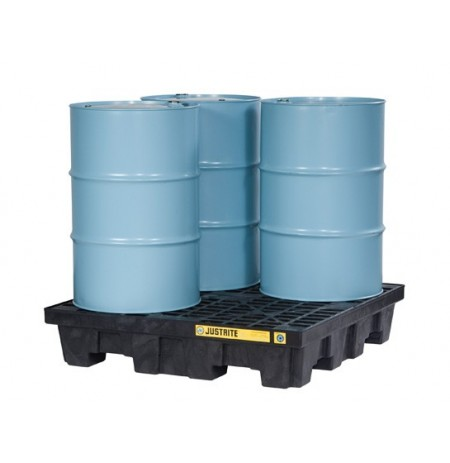 EcoPolyBlend™ Spill Control Pallet, 4 drum square, recycled polyethylene