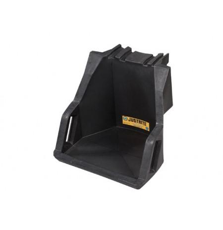 EcoPolyBlend™ Drum Management Dispensing Shelf mounts to Stack Module, 100% recycled poly, Black