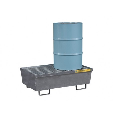 Steel Pallet with galvanized steel bar grating and forklift pockets, 2 drum