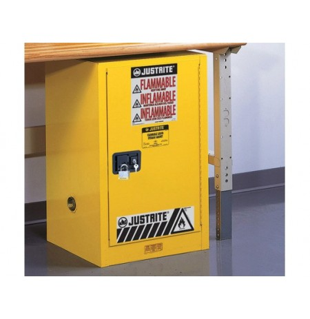 Sure-Grip® EX Compac Flammable Safety Cabinet, Cap. 12 gallons, 1 shelf, 1 s/c door