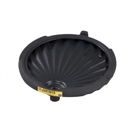 EcoPolyBlend™ Funnel for non-flammables for 30 and 55-gallon drums, 100% recycled content, Black