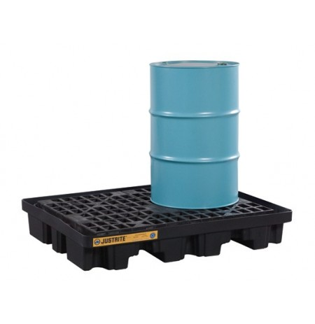 EcoPolyBlend™ Low Line Pallet, 2 Drum, 100% recycled polyethylene, Black