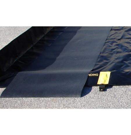 TRACK MAT, DIMS. 3'W x 10'L, BLACK