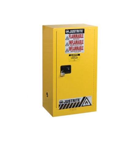 Sure-Grip® EX Compac Flammable Safety Cabinet, Cap. 15 gallons, 1 shelf, 1 s/c door