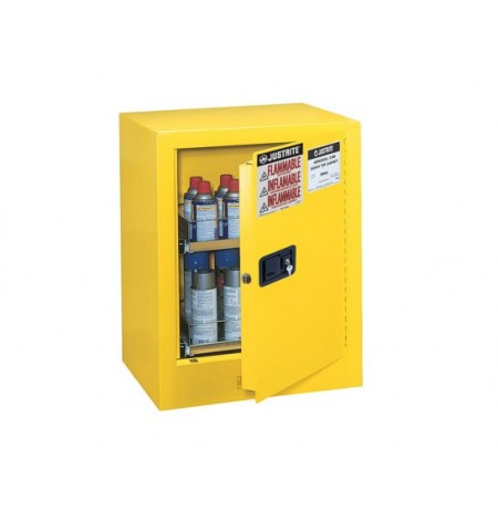 Sure-Grip® EX Benchtop Flammable Safety Cabinet, Cap. 24 aerosol cans, 2 drawers, 1 m/c door