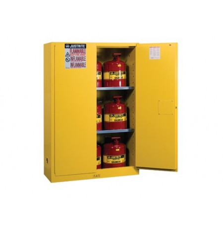 Sure-Grip® EX Safety Cabinet/Can Package, Cap. 45-gal. cabinet w/cans, 2 shlvs, 2 m/c doors