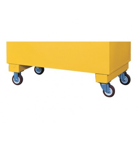 Casters for Safesite™ safety/storage chest, set of 4 with 1120-lb. load capacity, 2 locking.