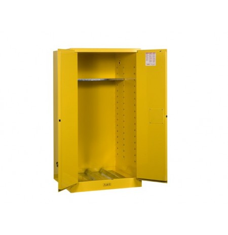 Sure-Grip® EX Vertical Drum Safety Cabinet and Drum Support, Cap. 55 gal., 1 shelf, 2 m/c doors