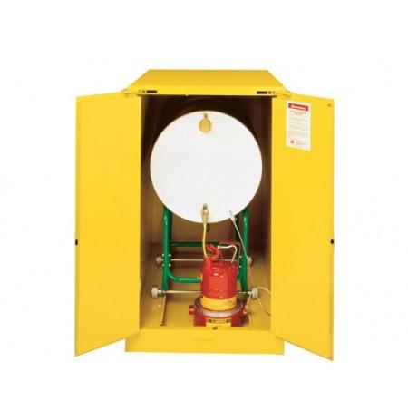 Sure-Grip® EX Horizontal Drum Safety Cabinet with Cradle Track, Cap. 55-gal. drum, 2 s/c doors
