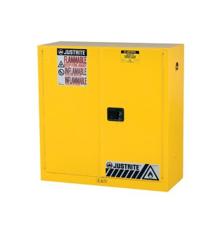 "Sure-Grip® EX Flammable Safety Cabinet, Dims. 44""H, Cap. 30 gal., 1 shelf, 2 m/c doors"
