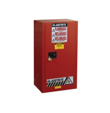 Sure-Grip® EX Combustibles Safety Cabinet for paint and ink, Cap. 20 gal, 2 shlves, 1 s/c door