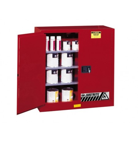 Sure-Grip® EX Combustibles Safety Cabinet for paint and ink, Cap. 40 gal., 3 shelves, 2 m/c doors
