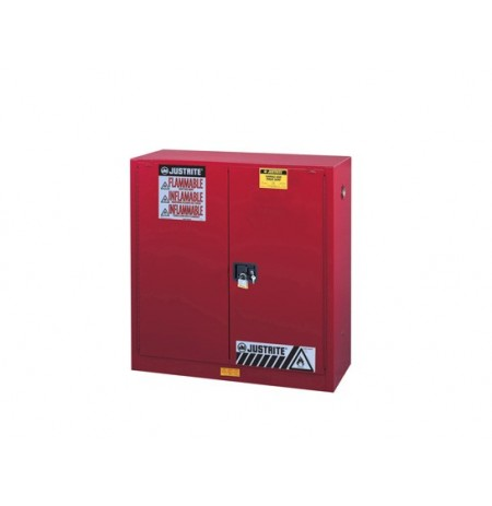 Sure-Grip® EX Combustibles Safety Cabinet for paint and ink, Cap. 40 gal, 3 shlves, 2 s/c doors