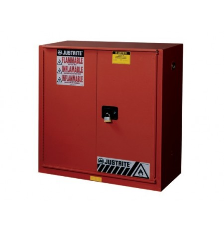Sure-Grip® EX Combustibles Safety Cabinet for paint/ink, Cap. 40 gal., 3 shlvs, 1 bifold s/c door