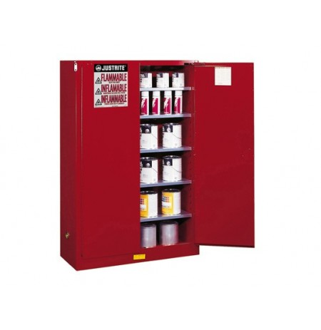 Sure-Grip® EX Combustibles Safety Cabinet for paint and ink, Cap. 60 gal., 5 shelves, 2 m/c doors