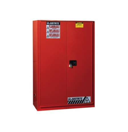 Sure-Grip® EX Combustibles Safety Cabinet for paint and ink, Cap. 60 gal., 5 shlvs, 1 bifold door