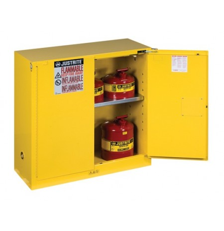 Sure-Grip® EX Flammable Safety Cabinet, Cap. 30 gallons, 1 shelf, 2 self-close doors