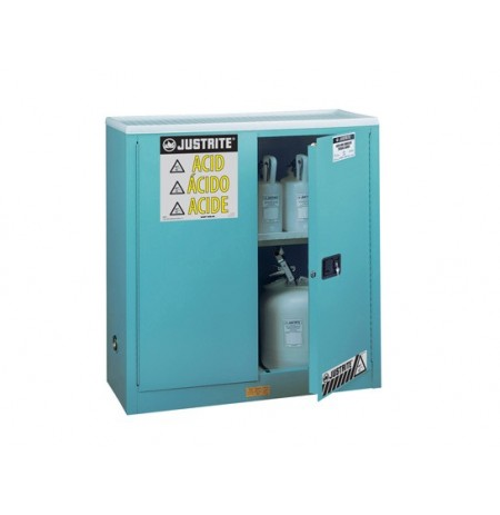 "Sure-Grip® EX Corrosives/Acid Stl Safety Cabinet, Dims. 44""H, Cap. 30 gal., 1 shelf, 2 m/c doors"