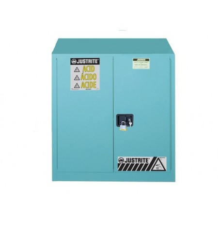 "Sure-Grip® EX Corrosives/Acid Stl Safety Cabinet, Dims. 35""H, Cap. 30 gal., 1 shelf, 2 m/c doors"