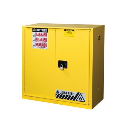 Sure-Grip® EX Flammable Safety Cabinet, Cap. 30 gal., 1 shelf, 1 bi-fold s/c door
