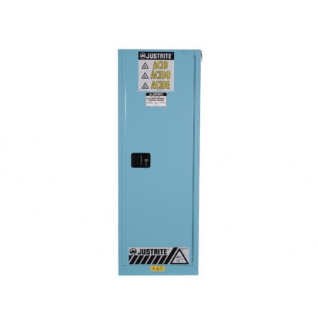 Sure-Grip® EX Slimline Corrosives/Acid Steel Safety Cabinet, Cap. 22 gal, 3 shelves, 1 m/c door