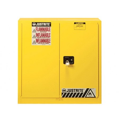 "Sure-Grip® EX Flammable Safety Cabinet, Dims. 35""H, Cap. 30 gal., 1 shelf, 2 m/c doors"