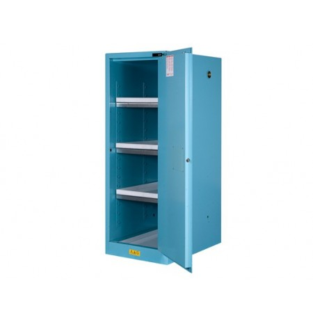 Sure-Grip® EX Deep Slimline Corrosives/Acid Safety Cabinet, Cap. 54 gal., 3 shelves, 1 s/c door