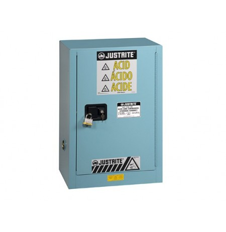 Sure-Grip® EX Compac Corrosives/Acid Steel Safety Cabinet, Cap. 15 gal., 1 shelf, 1 m/c door