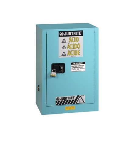 Sure-Grip® EX Compac Corrosives/Acid Steel Safety Cabinet, Cap. 15 gal., 1 shelf, 1 s/c door