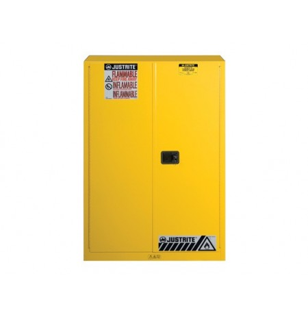 Sure-Grip® EX Flammable Safety Cabinet, Cap. 45 gallons, 2 shelves, 2 manual-close doors