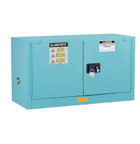 Sure-Grip® EX Piggyback Corrosives/Acid Steel Safety Cabinet, Cap. 17 gal, 1 shelf, 2 m/c doors