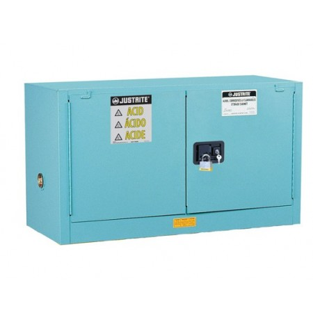 Sure-Grip® EX Piggyback Corrosives/Acid Steel Safety Cabinet, Cap. 17 gal, 1 shlf, 2 s/c doors