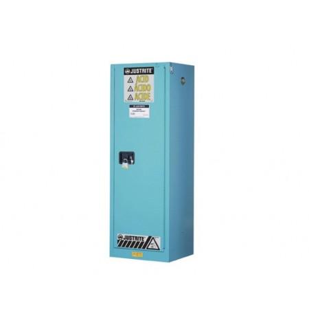 ChemCor® Slimline Corrosives/Acids Safety Cabinet, Cap. 22 gallons, 3 shelves, 1 m/c door,