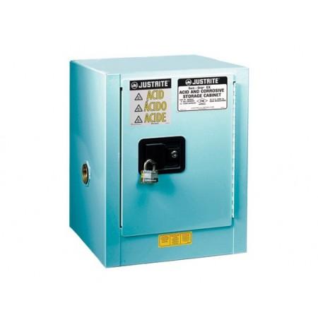 ChemCor® Countertop Corrosives/Acids Safety Cabinet, Cap. 4 gallons., 1 shelf, 1 s/c door