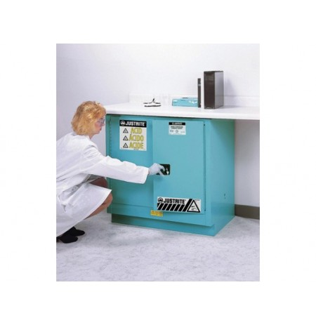 ChemCor® Undercounter Corrosives/Acids Safety Cabinet, Cap. 22 gallons, 1 shelf, 2 s/c doors