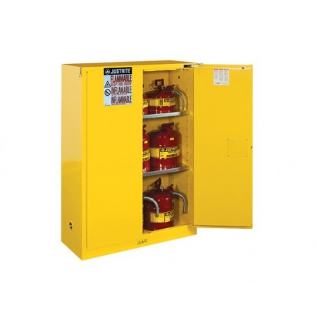 Sure-Grip® EX Flammable Safety Cabinet, Cap. 45 gallons, 2 shelves, 2 self-close doors