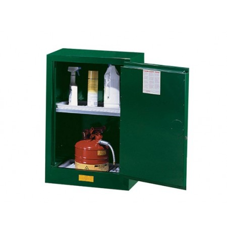 Sure-Grip® EX Compac Pesticides Safety Cabinet, Cap. 12 gal., 1 adjustable shelf, 1 s/c door