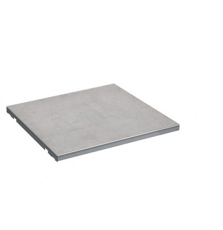 "SpillSlope® Steel Shelf for 15-gallon (24""W) Under Fume Hood safety cabinet."