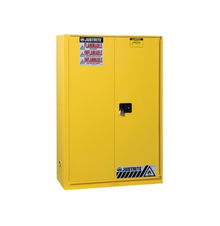 Sure-Grip® EX Flammable Safety Cabinet, Cap. 45 gallons, 2 shelves, 1 bi-fold s/c door