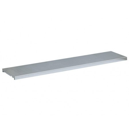 SpillSlope® Steel half-depth Shelf for Double 55-gallon Vertical Drum safety cabinet.