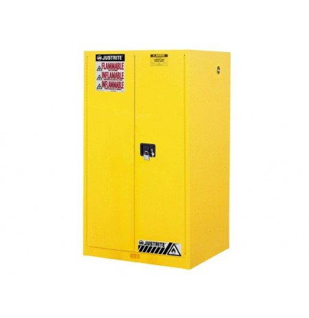Sure-Grip® EX Flammable Safety Cabinet, Cap. 60 gallons, 2 shelves, 2 manual-close doors