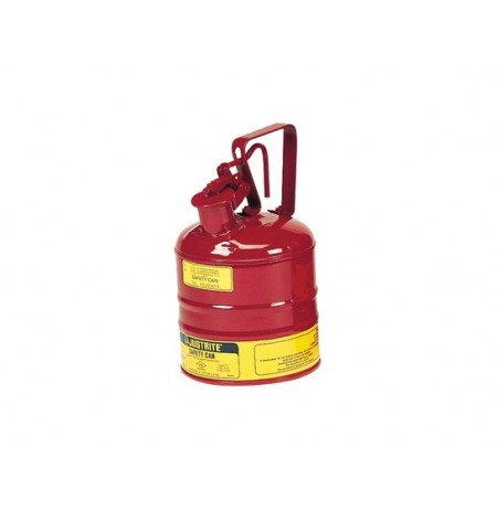 Type I Steel Safety Can with Trigger Handle for flammables, 1 gallon (4L), S/S flame arrester, self-close lid