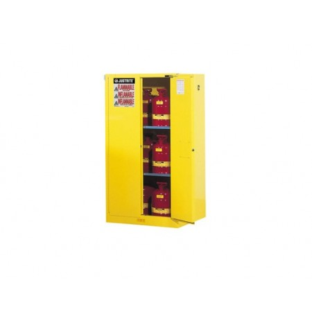 Sure-Grip® EX Flammable Safety Cabinet, Cap. 60 gallons, 2 shelves, 2 self-close doors